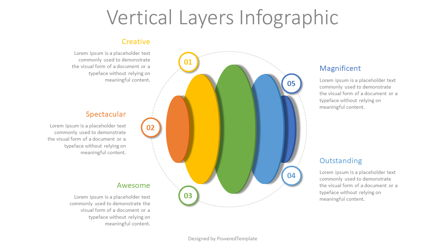Vertical Layers Infographic Presentation Template, Master Slide