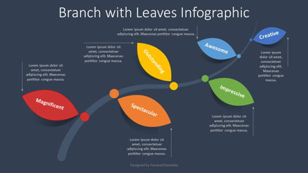 Branch with Leaves Infographic Presentation Template, Master Slide