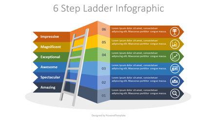 6 Step Ladder Infographic Presentation Template, Master Slide
