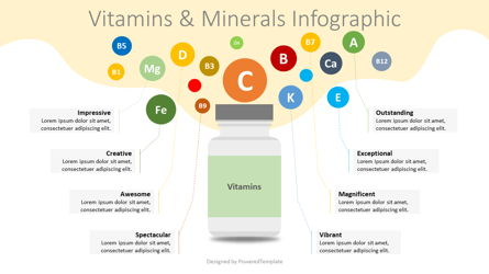 Vitamins and Minerals Infographic Presentation Template, Master Slide