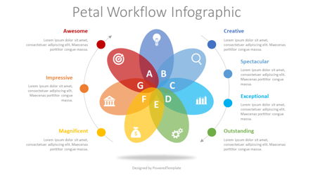 Petal Cycle Workflow Infographic Presentation Template, Master Slide