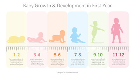 Baby First Year Development Infographic Presentation Template, Master Slide