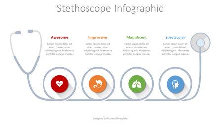 Stethoscope Infographic Presentation Template, Master Slide