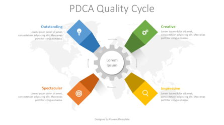 PDCA Quality Cycle Diagram Presentation Template, Master Slide