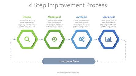 4 Step Improvement Process Presentation Template, Master Slide