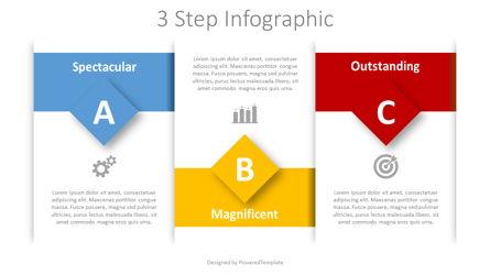 3 Step Text Blocks Infographic Presentation Template, Master Slide