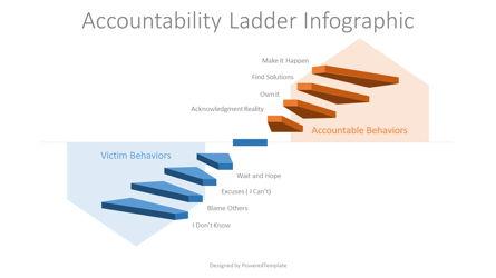 Accountability Ladder Infographic Presentation Template, Master Slide