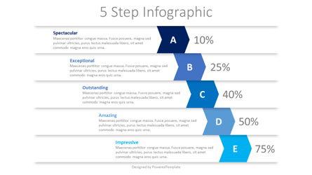 5 Falling Step Infographics Presentation Template, Master Slide