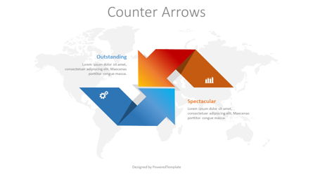 Counter Arrows Infographic Presentation Template, Master Slide