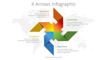 Four Arrows Infographic Presentation Template, Master Slide