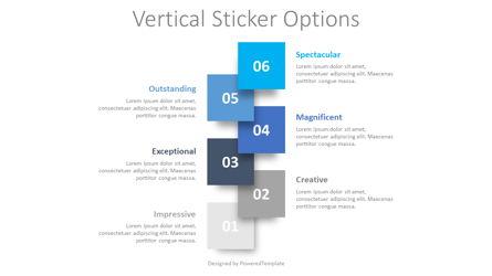 Vertical Sticker Options Presentation Template, Master Slide
