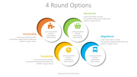 4 Cut Round Shapes Infographic Presentation Template, Master Slide