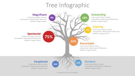 Three with Round Options Infographic Presentation Template, Master Slide
