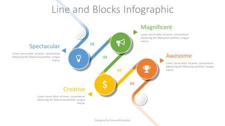 Bended Timeline Infographic Presentation Template, Master Slide