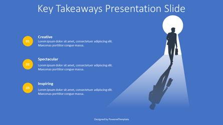 Key Takeaways Presentation Slide Presentation Template, Master Slide
