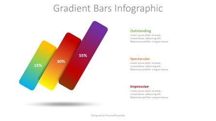 3 Gradient Bars Infographic Presentation Template, Master Slide