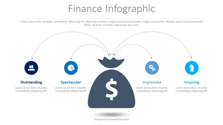 Finance Infographic with Icons Presentation Template, Master Slide