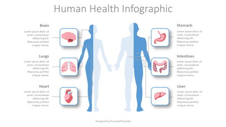 Human Health Infographic Presentation Template, Master Slide