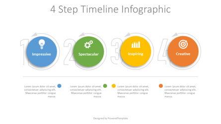 4 Step Timeline Infographic Presentation Template, Master Slide