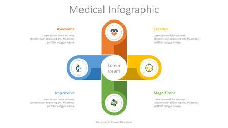 Medical Process Infographic Presentation Template, Master Slide