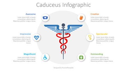 Caduceus Infographic Presentation Template, Master Slide