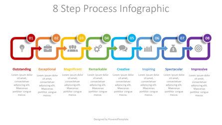 8 Step Process Infographic Presentation Template, Master Slide
