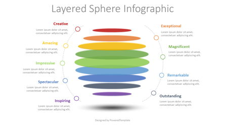 Layered Sphere Infographic Presentation Template, Master Slide