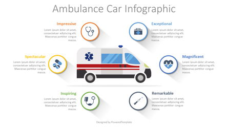 Ambulance Car Infographic Presentation Template, Master Slide