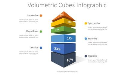 Stacked Column Infographic Presentation Template, Master Slide