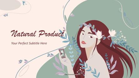 Natural Product Cover Slide Presentation Template, Master Slide