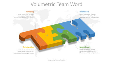 Team Word Puzzle Pieces Presentation Template, Master Slide