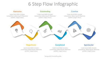 6 Step Flow Infographic Presentation Template, Master Slide
