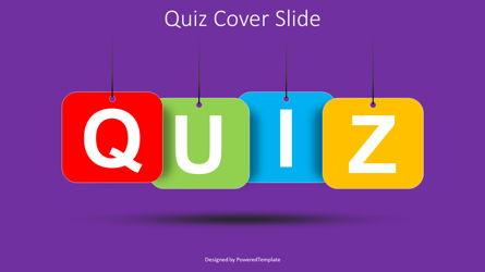 Quiz Word Cover Slide Presentation Template, Master Slide