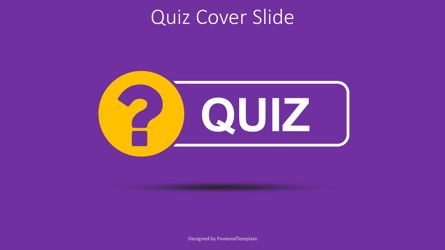 Quiz Word with Question Mark Cover Slide Presentation Template, Master Slide