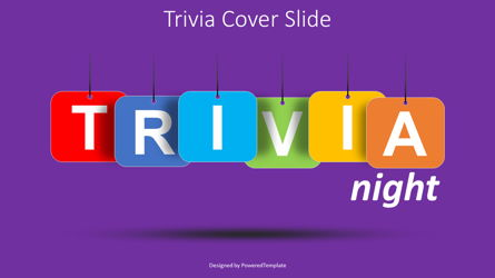 Trivia Night Cover Slide Presentation Template, Master Slide