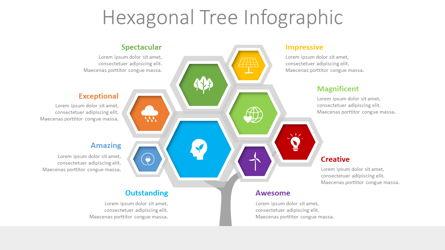Hexagonal Tree Infographic Presentation Template, Master Slide