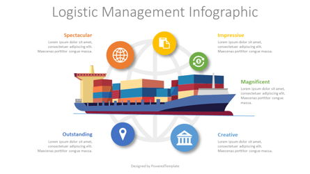 Logistics Management Infographic Presentation Template, Master Slide