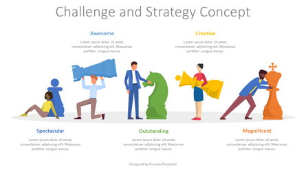 Challenge and Strategy Concept Presentation Template, Master Slide