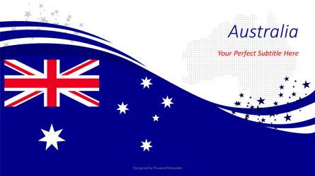 Australian Festive Flag Presentation Template, Master Slide