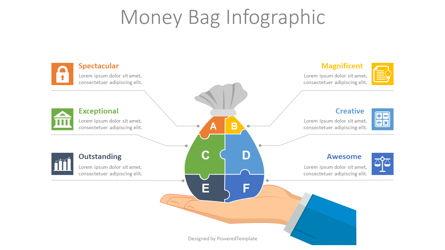 Money Bag Infographic Presentation Template, Master Slide