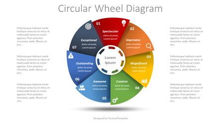 Process Wheel Diagram Presentation Template, Master Slide