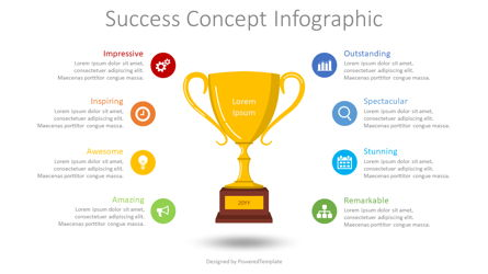 Success Concept Inforgraphic Presentation Template, Master Slide
