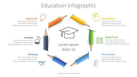 Colored Pencils Infographic Presentation Template, Master Slide