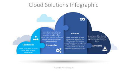 Cloud Solutions Infographic Presentation Template, Master Slide