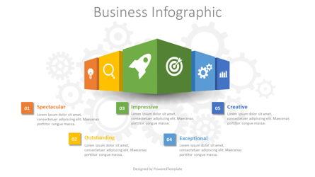 Business Infographic Presentation Template, Master Slide