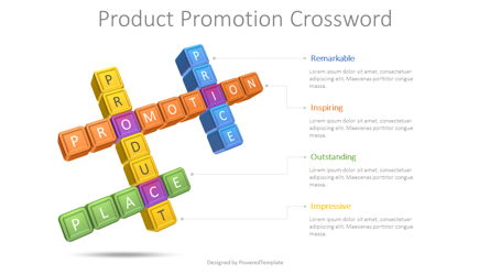 Product Promotion Crossword Presentation Template, Master Slide