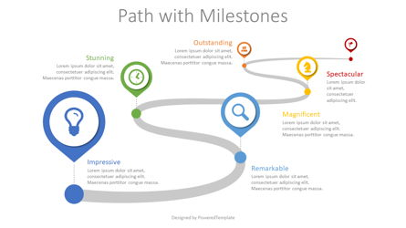 Path with Milestones Presentation Template, Master Slide