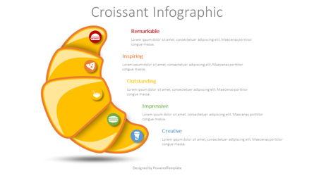 Croissant Infographic Presentation Template, Master Slide