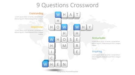 Question Words Crossword Presentation Template, Master Slide
