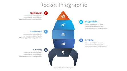 Spaceship Infographic Presentation Template, Master Slide
